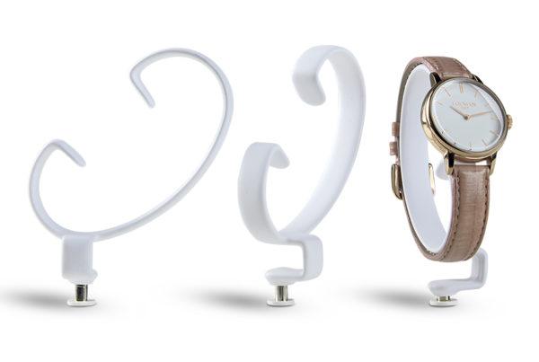 c-ring porta orologio bianco in metallo satinato